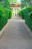 Walkway to the door. Stock Photos