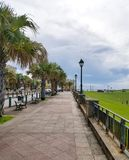 Walkway to el Morro castle at old San Juan, Puerto Rico. Royalty Free Stock Image