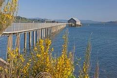 Walkway To Fish House In Garibaldi Oregon Royalty Free Stock Photos