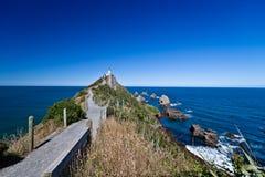 Walkway to Lighthouse - New Zealand Stock Photo