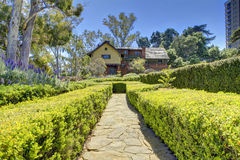 Walkway to Marston House Museum & Gardens. San Diego, CA Royalty Free Stock Image