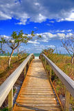 Walkway to the ocean Royalty Free Stock Photography