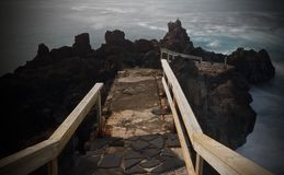 Walkway to the ocean Royalty Free Stock Photo