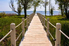 Walkway to the ocean Royalty Free Stock Image