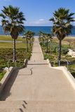 Walkway to the sea Stock Photography