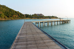 Walkway to the sea Stock Photography