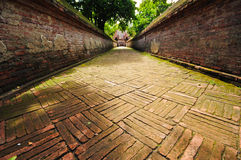Walkway to the temple Royalty Free Stock Photos