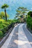 Walkway to The Villa del Balbianello royalty free stock photography