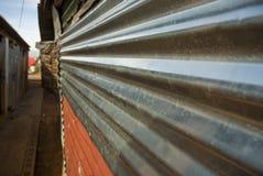 Walkway in township stock photos
