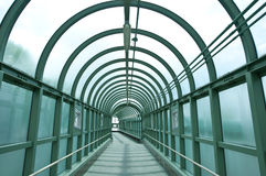 Walkway tunnel Royalty Free Stock Images