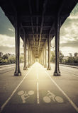 Walkway under the bridge Royalty Free Stock Images