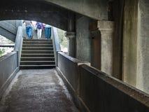 Walkway, under the bridge Royalty Free Stock Image
