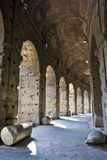 Walkway Under Coliseum Royalty Free Stock Images