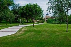Walkway in university campus Stock Images