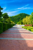 Walkway at Wat Thipsukhontharam,Kanchanaburi province,Thailand Stock Photography
