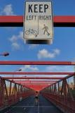 Walkway on Williamsburg Bridge Stock Photo