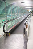 Walkways at the airport for passengers Royalty Free Stock Photo