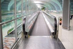 Walkways at the airport for passengers Royalty Free Stock Image