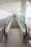 Walkways at the airport for passengers Stock Photos