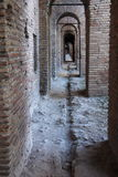 Walkways in the Aurelian Walls of Rome. The Aurelian Walls were constructed between 270 and 275 AD at the behest of the Emperor Aurelian, as a defence for the Royalty Free Stock Photos