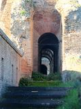 Walkways in the Aurelian Walls of Rome. The Aurelian Walls were constructed between 270 and 275 AD at the behest of the Emperor Aurelian, as a defence for the Royalty Free Stock Images