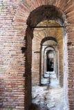 Walkways in the Aurelian Walls of Rome Royalty Free Stock Photo