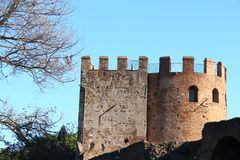 Walkways in the Aurelian Walls of Rome Royalty Free Stock Photography