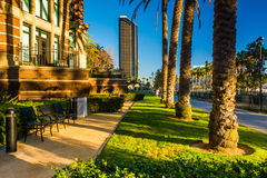 Walkways and buildings in San Diego, California. Royalty Free Stock Photos