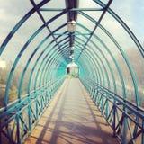 Walkwaytunnel Arkivfoto