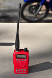 Walky talky. Red walkie talkie for communication Royalty Free Stock Image