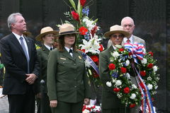 The wall 1. Annual Memorial Day observance at the Vietnam Memorial wall Stock Image