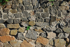 Wall. Nice background to show old house wall, stone fence, building, constructing Stock Photo