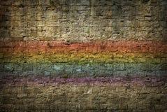 Wall. Cement brick wall frame nobody rainbow Stock Photography