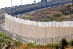 Wall. Israeli west bank separation wall stock image