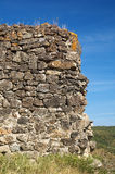 Wall. Ruins of the Castle of Querthineux Stock Photos