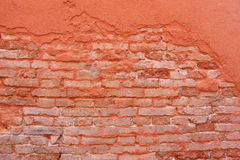 Wall. Texture of a outworn brick wall Stock Photography