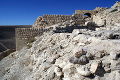 Wall. Arc and wall of castle Shobak in Jordan Royalty Free Stock Photography