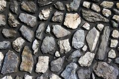 Wall. Detailed view of a stone wall stock photography