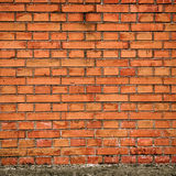 The Wall. Photo of a wall composed of a set of red bricks Royalty Free Stock Images