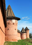 Wall. S and towers of Monastery of Saint Euthymius in Suzdal, Russia Stock Image
