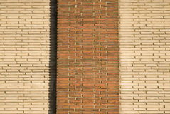 Wall. It is structure one brick factory building Stock Photos