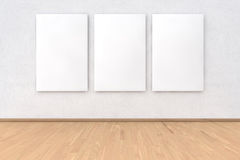 Wall with 3 pieces frame Stock Images