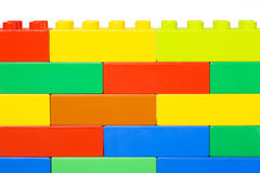Wall. From colourful plastic blocks Stock Image