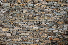 Wall. A wall made of stone or rock Royalty Free Stock Image