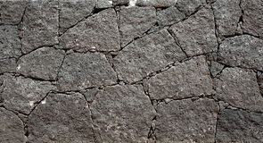 Wall. Built from volcanic rocks Royalty Free Stock Photo