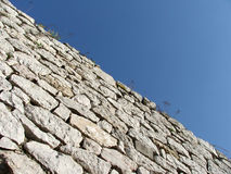 Wall. Old wall and blue sky Royalty Free Stock Photo