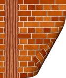 Wall. The abstract image of a brick wall Stock Photos