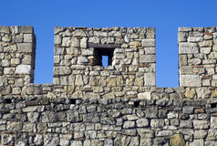 Wall. Fortress wall isolated over blue sky Royalty Free Stock Images