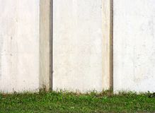 Wall. Concrete wall and green grass Stock Photo