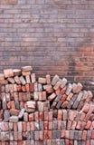 Wall. Brick wall royalty free stock photos